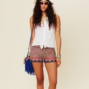 Fun Boho Free People Shorts with tiny mirrors